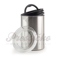 Airscape nádoba na uskladnenie kávy veľká, strieborná farba