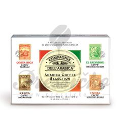 Compagnia Dell Arabica - Arabica Coffe Selection, mletá káva 4x125g (Kenya, India, Costa Rica, El Salvador)