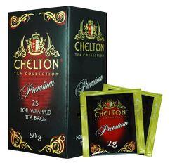Chelton Premium čierny čaj porciovaný, individuálne balený, 25 ks