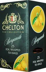 Chelton Premium čierny čaj s bergamotom, porciovaný, individuálne balený, 25 ks