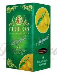 Chelton Premium zelený čaj s bergamotom, porciovaný, individuálne balený, 25 ks