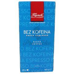 Franck Espresso Extra bez kofeínu, porciovaná káva 20ks x 7g