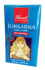 Franck JUBILARNA bez kofeínu, mletá káva 250g