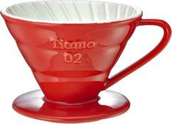 Keramický dripper Tiamo V02 červený