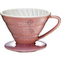 Keramický dripper Tiamo V02 ružový
