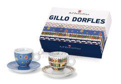 Kolekcia 2 ks espresso šálok Gillo Dorfles