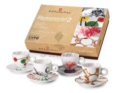 Kolekcia 4 ks cappuccino šálok ILLY SustainArt 2