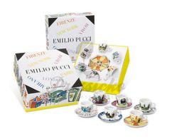 Kolekcia 6 ks cappuccino šálok Emilio Pucci