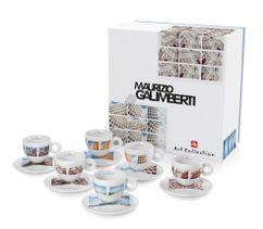 Kolekcia 6 ks espresso šálok Maurizio Galimberti