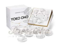 Kolekcia 7 ks espresso šálok Mended cups - Yoko Ono