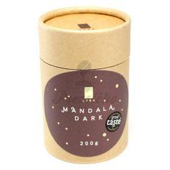 LYRA Mandala Dark, horká čokoláda s luxusnými posypmi, 200g