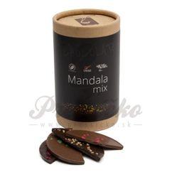LYRA Mandala MIX, mliečna a horká čokoláda s luxusnými posypmi, 200g