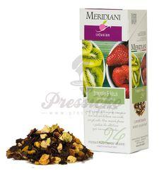 Meridiani Fragola & Kiwi, ovocný čaj 100g