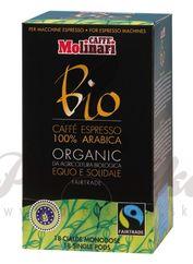 Molinari 100% Arabica BIO & Fairtrade, porciovaná káva 7g x 18ks
