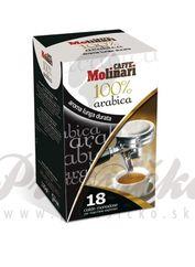 Molinari 100% Arabica, porciovaná káva 7g x 18ks