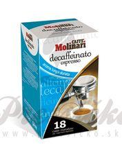 Molinari Espresso bezkofeínová, porciovaná káva 7g x 18ks