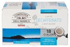 Compagnia Dell Arabica Pure Arabica Decaffeinato, porciovaná káva 18x7g