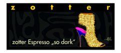 """Zotter čokoláda Espresso """"so dark"""" 70g"""