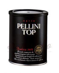 Pellini TOP 100% Arabica, mletá káva 250g v plechovke